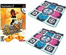 Playstation 2 Dance Dance Revolution DDR X + Two  PS2 Dance Pads Mats