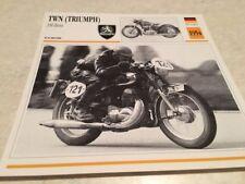 Fiche moto collection Atlas motorbike TWN Triumph 350 Boss 1954