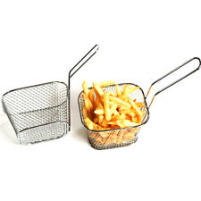 4X Mini Friteuse Chip Fry Panier Servant Présentation Aliment Plat Cuisine Outil