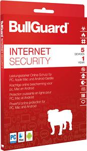 Bullguard Internet Security 5 Geräte 1 Jahr 2021 Für Win Mac Andoid Top 2021