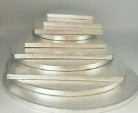 Thick 12mm Silver Cake Boards Square or Round