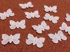 LM1- 20 WHITE Vintage LACE Applique Guipure, Sew On Fabric BUTTERFLY Patches