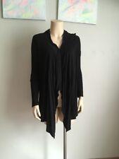 Miss Shop Asymmetrical Black Waterfall Cardigan, Top, Jacket - Size: 6