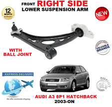 FOR AUDI A3 8P1 2003-> FRONT LOWER RIGHT WISHBONE SUSPENSION ARM + BALL JOINT