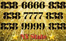 838 Area Vanity Easy Phone Number 838-Xxxx-838 Unique New York State
