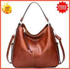 Hobo Bag Leather Women Handbags Female Leisure Shoulder Bags Lady Fashion Purses