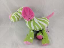 "Douglas Green Pink Dog Plush 9"""