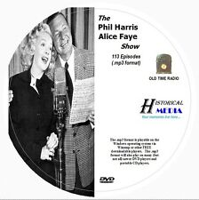 PHIL HARRIS - ALICE FAYE SHOW - 113 Shows Old Time Radio MP3 Format OTR On 1 DVD