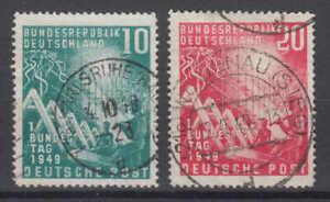 "BRD/Bund Nr. 111-112 gestempelt/o, (Nr. 112 mit PF VII), geprüft ""Schlegel BPP"""