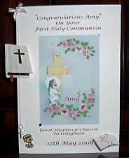HANDMADE PERSONALISED 1ST HOLY COMMUNION/CONFIRMATION CARD WITH KEEPSAKE