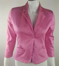 SO Juniors Small Solid Pink Single Button Front Career Blazer w/ Stretch NWT