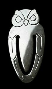 Signed Tiffany Bookmark Sterling Silver Owl