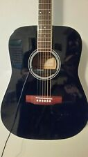 Aria Left Handed Acoustic Guitar, Fresh set-up Duncan pick-up Black lefty