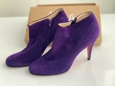 Christian Louboutin Purple Ankle Boots Brand New