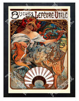 Historic Biscuits Lefevre-Utile, 1896 Advertising Postcard