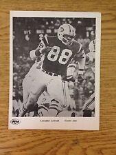 Richard Caster Tight End New York Jets Photo 5.25x7 NFL Football