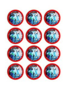 12 How To Train Your Dragon Party Stickers