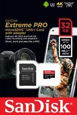 SanDisk 32GB microSDHC Extreme Pro 100MB/s A1 4K U3 V30 32G microSD SDSDQXP-032G