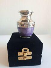 "Memorial Keepsake Cremation Ashes Urn 2.5"" Small -  Purple Nickel"