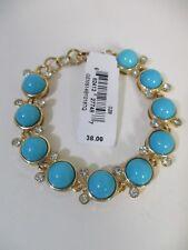 Lee By Lee Angel Capri Cabochon Link Bracelet NIP $38 Turq