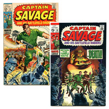 Captain Savage and His Battlefield Raiders 12, 15 (1969) lot of 2 Marvel Comics