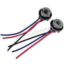 New 2X 1157 2057 2357 Socket Adapter Harness Wiring For Turn Signal Light Bulb