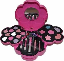 New Flower Shaped Cosmetics Play Set Girls Fashion Makeup Kit Kids