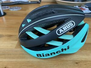 Bianchi Abus Aventor cycle helmet, rare. Excellent condition