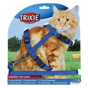 New Trixie Cat Set of Harness / Lead for Large Cat Nylon 34-57 cm 41960