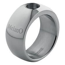 MelanO Magnetic Anillo Acero Inoxidable 10 Mm Ancho Tamaño 50 Brillante M 01R003