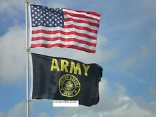 LOT 3'X5' U.S./ AMERICAN & 3X5 US ARMY BLACK & GOLD FLAG