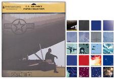 Air Force Scrapbook Paper Collection - 20 unique sheets