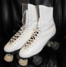 RIEDELL WOMENs Sz 6 SURE-GRIP 99P ROLLER DERBY 4-Wheelers LEATHER Skates  WHITE