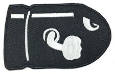 BULLET BILL SUPER MARIO GAME IRON ON EMBROIDERED PATCH