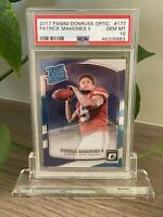2017 PANINI DONRUSS OPTIC PATRICK MAHOMES RATED ROOKIE RC #177 PSA 10🔥 INVEST