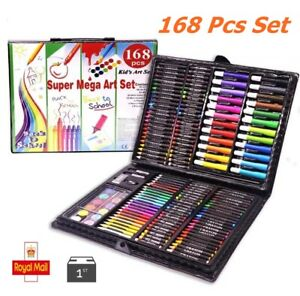 Water Color Pen Drawing Painting Art Crayon Set for Kids Crafts Kit Gift 168 pcs