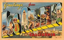 Large Letter postcard Greetings from Los Angeles California