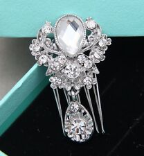 Vintage Bridal Hair Comb Bridal Diamante Crystal Dangle Wedding Headpieces
