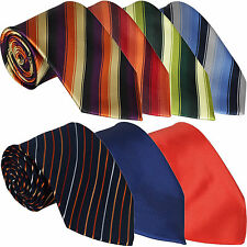 New Mens Tie Satin Striped Necktie Classic Wedding Office Business Stripe Lot