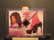 2012 Bench Warmer Hot for Teacher High Heels Pink Foil #15 Claudia Jordan 03/25