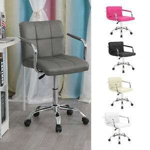 Multicolor Comfy PU Office Chair Padded Seat Swivel Lift Chair PU Leather Chair