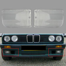 Pair Front Bumper Fog Light Clear Plastic Lens For BMW E30 318i 318is 82-91 C
