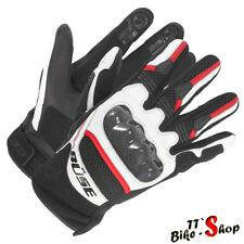 """Büse """"Safe Ride"""" in Rot Weiß, Größe 8 9 10 11, 12 13, Motorradhandschuhe, kurz"""