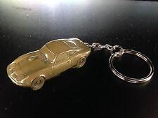 Opel GT Brass Effect 3D split-ring keyring FULL CAR ref171