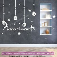 Christmas Baubles Wall Sticker, Snowflakes stickers, Christmas wall decorations