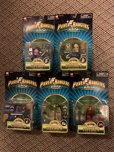 5 New Sealed Power Rangers Micro Zoe zords Playset complete set 100% 1 Through 5