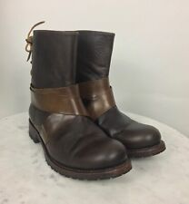 SENDRA Women's Leather Ankle Boots Lace Back Brown US 8