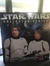 "Star Wars 12"" Collector Series Han Solo And Luke Skywalker In Stormtrooper Gear"