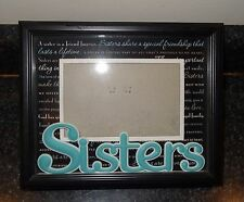 "Sisters Frame New View Picture Photo Black Turquoise fits 4x6 Approx 9 x 7.5"" KH"