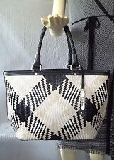 Cole Haan Genevieve Woven Leather Handbag Tote